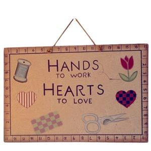 BOGO 50% off hand painted craft room wall art
